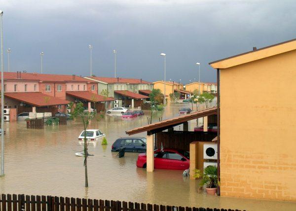 水害被害の出ている街